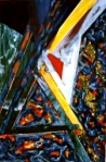 "Big A. 24"" x 18"".  acrylic on canvas. (Ptg #7) SOLD"