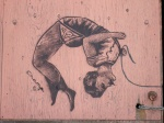Wall stencil by Champ - Vancouver, Canada