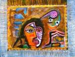 "The Dancing Alchemist. 12x16"". Acrylic on paper on panel. (Ptg#81)"