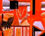 "Desert Dream. 8"" x 10"". conte on paper. (Drwg # 39)."