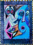 "Walkies.16x12"". Acrylic on paper on panel. (Ptg#78)"