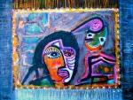 "Dancing Alchemist. 12x16"". Acrylic on paper on panel. (Ptg#81)"