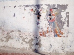 Worn Wall Painting of Figure - Essaouira, Morocco