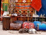 Bag Store with Cats. Marrakesh, Morocco