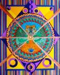 "Mandala for Jesse. 20.5"" x 16.5"". coloured pen on paper. (Drwg #3)."