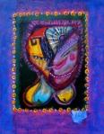 """Little Joker. 18x14"""". Acrylic on paper on panel. (Ptg #69)."""