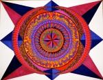 "Mandala for Carolyn. 16"" x 20"". coloured pen on paper. (Drwg #8)."