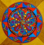 """Mandala for Dan and Phillippa. 8"""" x 8"""". (Drwg #6)."""