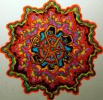 """Mandala for Steve. 11"""" x 14"""". coloured pen on paper. (Drwg #36)."""
