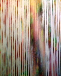 "Striped Painting 2. 40"" x 30"". acrylic on canvas.   (Ptg #6) SOLD"