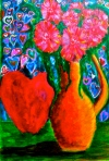 "Valentine's. 12"" x 9"". acrylic on paper. (Ptg # 43)."