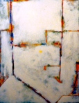 "White. 40""x30"". Acrylic on canvas. (Ptg.#4) SOLD"