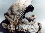 "Large Dragon detail - ceramic sculpture. D.10"" x W.10"" x H.9"" (varies). 1987"