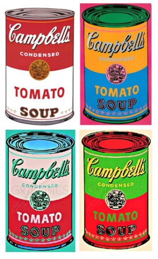 andy warhol paintings campbells soup. Black Bedroom Furniture Sets. Home Design Ideas