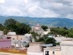 View over buildings of Oaxaca, Mexico