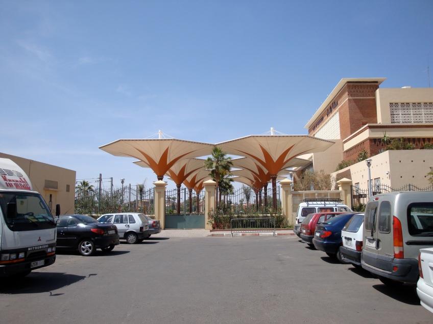 Outside Transit Depot. Marrakesh, Morocco