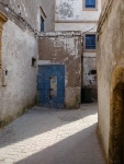 Small Blue Door in Alley - Marrakesh, Morocco