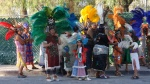 Costumed People Gathering in Street. San Miguel De Allende, Mexico