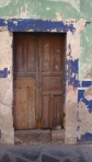 Door with chalk Census markings - San Miguel De Allende