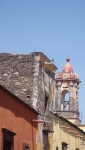 House and church tower. San Miguel De Allende, Mexico
