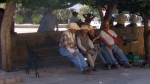 Old Boys on Park Bench. San Miguel De Allende, Mexico