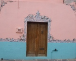 Door in fancy wall - San Miguel De Allende