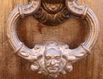 Door with Human Face Knocker - San Miguel De Allende