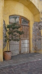 Double Doors in Yellow Wall - San Miguel De Allende