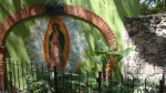 Green Wall with Painting, Virgin of Guadalupe - San Miguel De Allende, Mexico