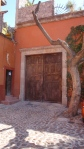 Door with Pruned Tree - San Miguel De Allende