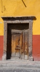 Door in Yellow Red Wall - San Miguel De Allende