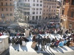 People on Spanish Steps. Rome, Italy.