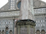 Turtles Under Obelisk at Santa Maria Novella. Florence, Italy