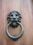 Big Ring Lion Knocker - Rome