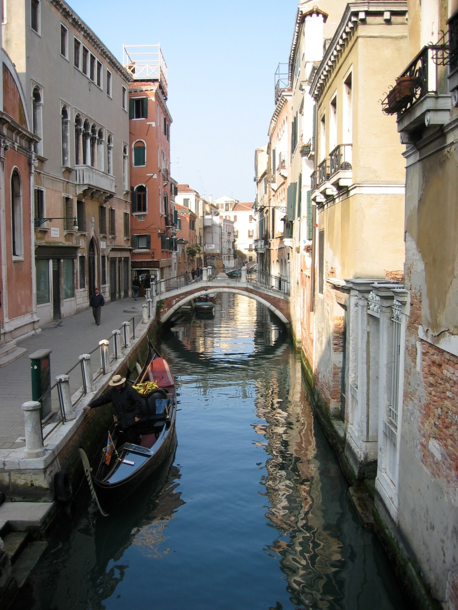 Canal Side Buildings 1. Venice, Italy