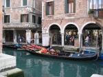 Canal Side Arcade. Venice, Italy