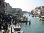 Canal Side Buildings and Gondola Jetties. Venice, Italy