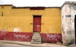 Yellow Red Wall Door - Oaxaca