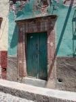 Door in Turquoise Wall - San Miguel De Allende
