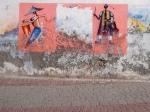 Worn Wall Drummers. Essaouira,