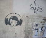Earphone Girl. Rome