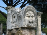 Carved face. Ostia, Rome
