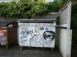 Garbage Bin Graffiti. Vancouver