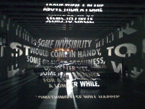 Light Installation at MassMoCA. Jenny Holzer. 2008