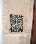 'Love Klan' stencil. Florence