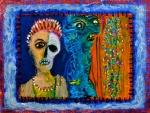 "Carnival Window. 12x16"". Acrylic on paper on panel. (Ptg#80)"